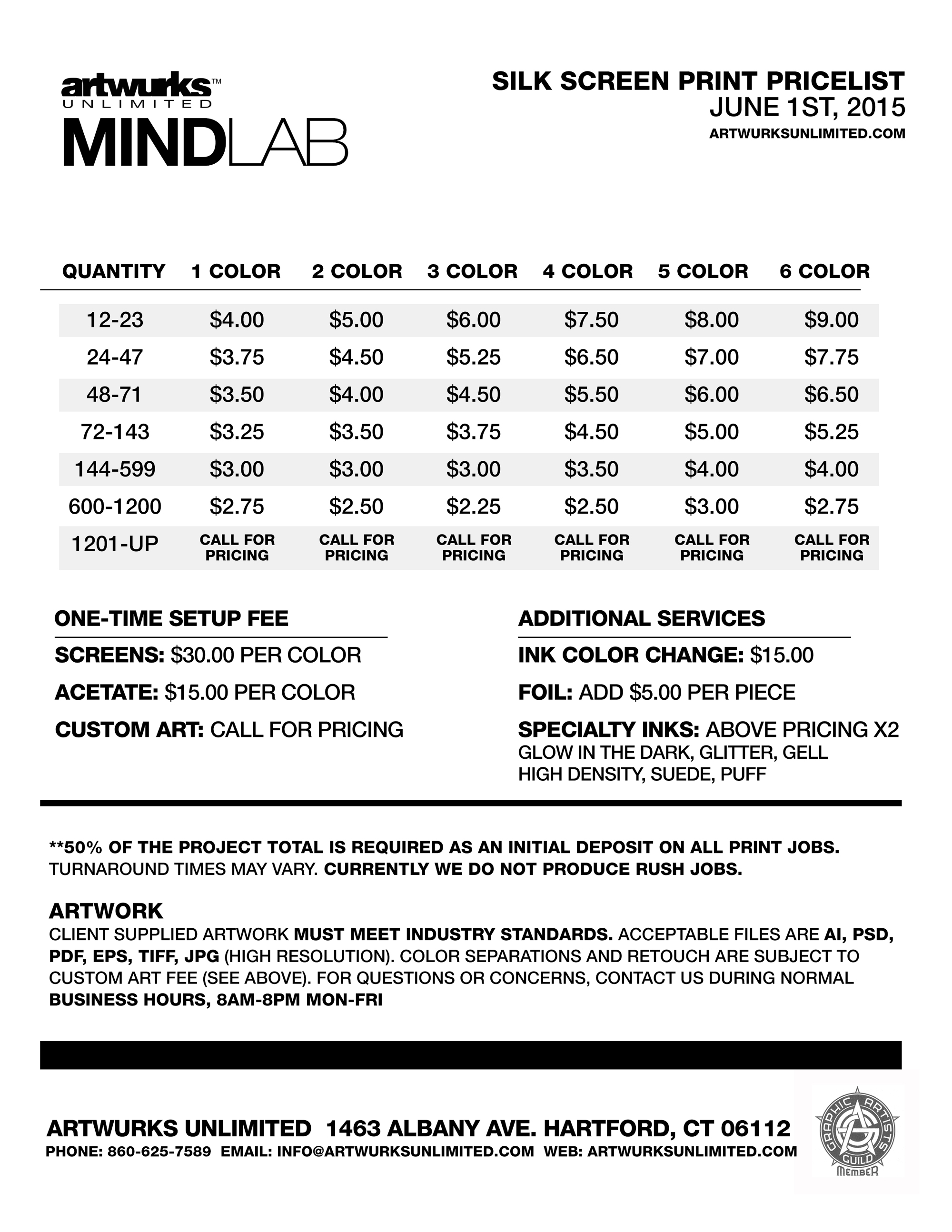 Artwurks-Unlimited-Mindlab-Silk-Screen-Pricelist-2015