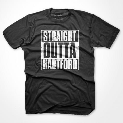 Straight Outta Hartford Tee Black