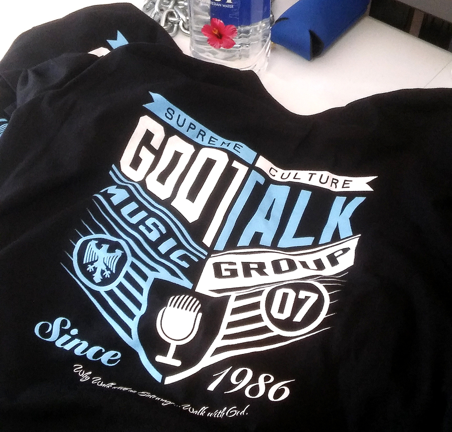 God Talk Music Group Tee Blk